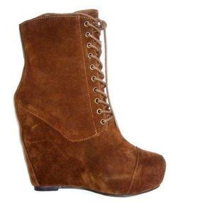 STEVEN By Steve Madden Nelley wedge boot, size 8.5